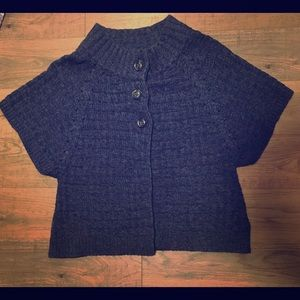 3 button poncho sweater